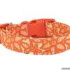 Handmade Autumn Lace Orange Collar with Personalization Name Option in All Sizes