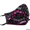 Pretty Breast Cancer Awareness Cloth FACE MASK for the Family in 4 Sizes Made in USA