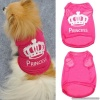 Hot Pink METALLIC PRINCESS Dog Tee and Puppy Pullover