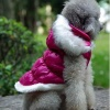 Luxurious Rose Pink Dog Winter Warm Rain Coat Jacket for Small to Medium Dogs and Puppies