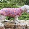 Warm and Soft Pink Plush Fleece Paw Print Dog and Puppy Pullover Sweater