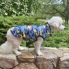 Custom Warm and Waterproof Blue Camouflage Puffer Dog COAT Jacket