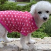Warm and Soft HOT PINK DOT Print FLEECE Dog and Puppy Sweater Pullover