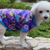 Warm and Soft Purple Hippie PEACE LOVE Fleece Dog and Puppy Sweater Pullover