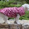 Custom Warm and Waterproof Hot Pink Cheetah Puffer Dog COAT Jacket for Girls