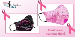 In October We Wear Pink- Breast Cancer Awareness Month Masks