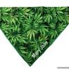 Personalized Green Pot Leaf Marijuana DOG BANDANA in 7 Sizes  – Over the Collar Style Pet Scarf Gift