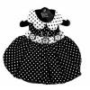 Polka Dot Dog Dress – Black and White