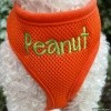 Personalized Orange Mesh Soft Pet Dog Harness with Embroidered Name Option