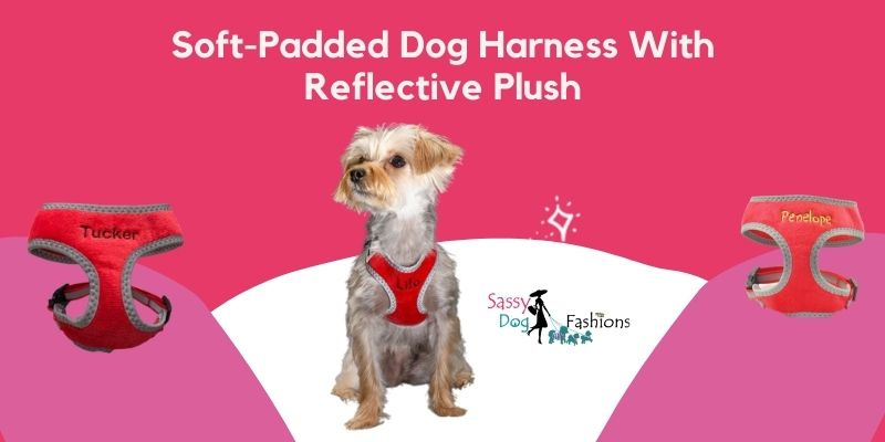 Soft-Padded Dog Harness With Reflective Plush