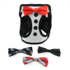 Dog Harness – Tuxedo with 4 Interchangeable Bowties